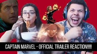 Captain Marvel - Official Trailer Reaction!!!!!