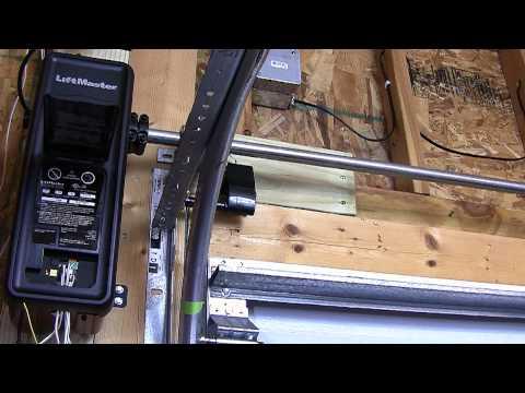 Liftmaster 8500 Jackshaft Travel Limits Programing  YouTube