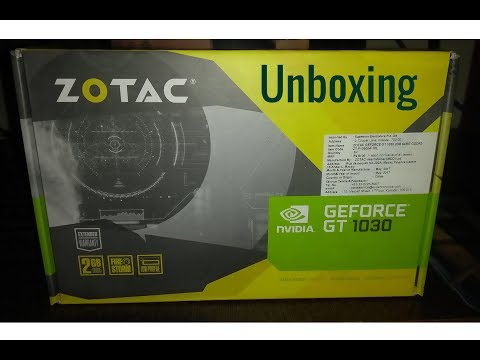 ZOTAC Nvidia GeForce GT 1030 Unboxing-Installation-Review And VGA Port