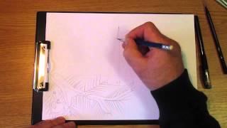 Как рисовать Новогодний вечер в городе. Часть 1. Урок 42