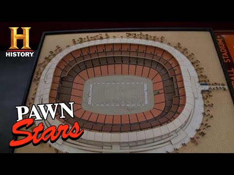 Pawn Stars: HAIL MARY DEAL For Miami Dolphins Stadium Model (Season 9)   History