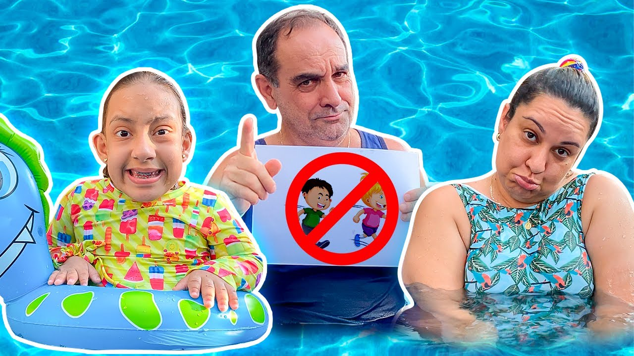 Regras de Segurança para Crianças na Piscina | MC Divertida Safety rules at the pool for kids