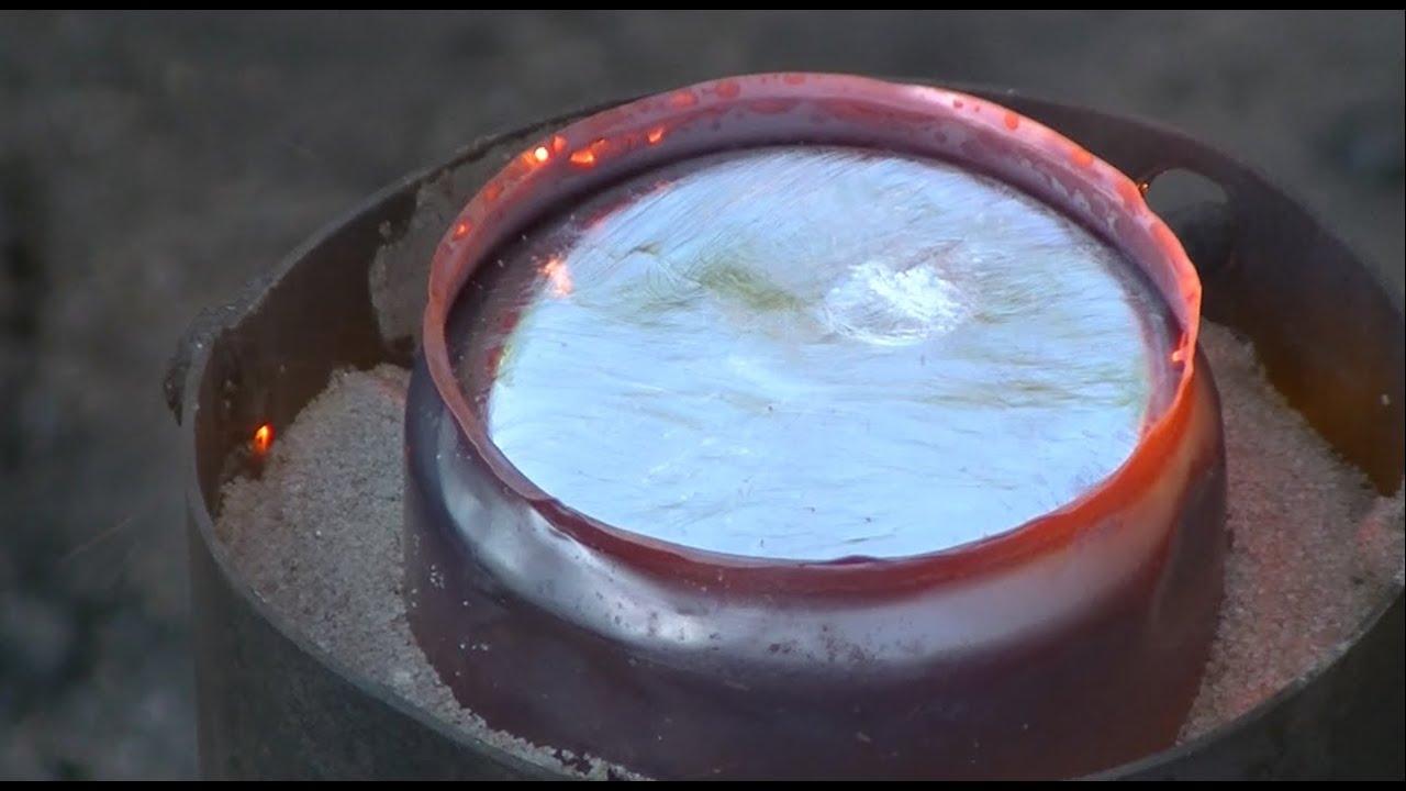 Как плавить алюминий без соды, соли и цинка