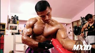 BINARAGA INDONESIA - AZIZ TAUFIQ ARMS WORKOUT AND POSING