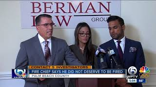 Embattled Palm Beach County fire chief calls out county administrator