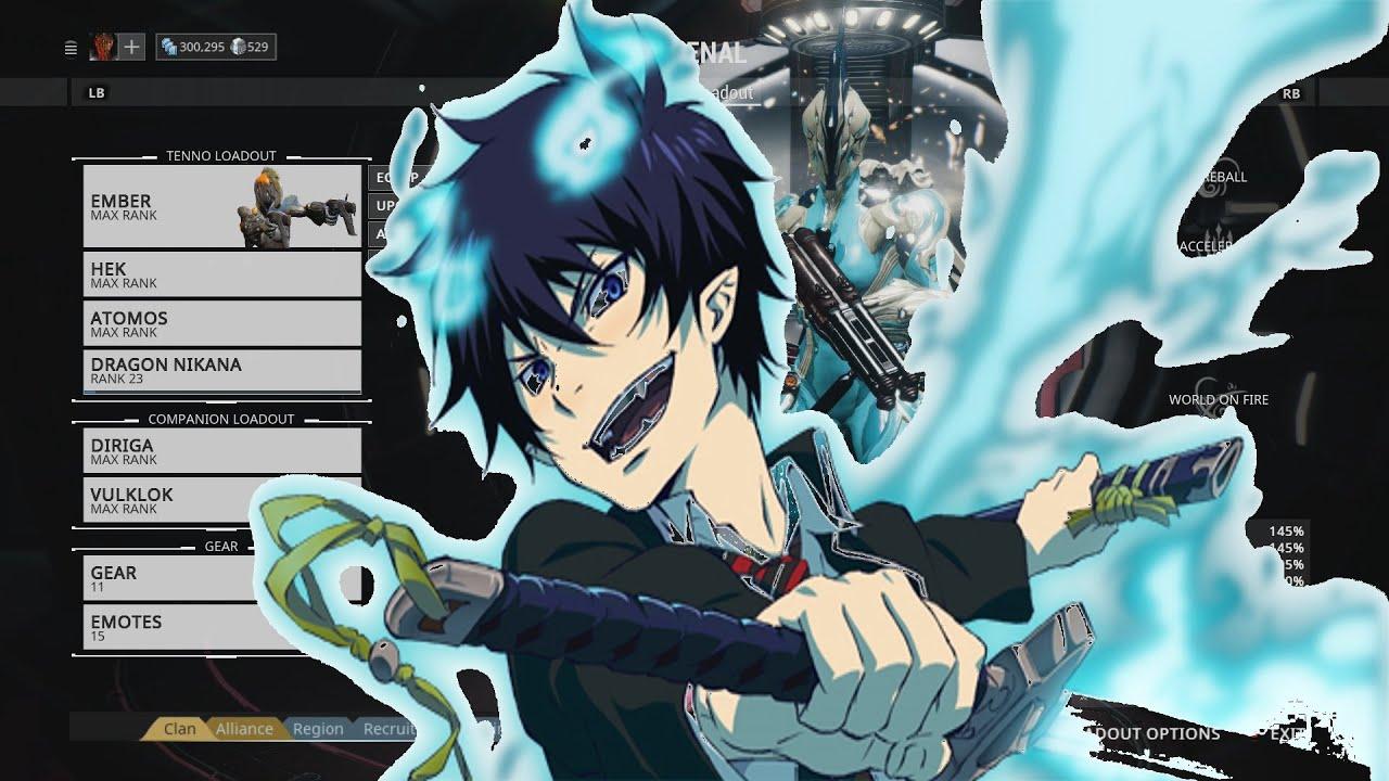 Blue Exorcist Warframe Son Of Satan Rin Okumura Themed Warframe