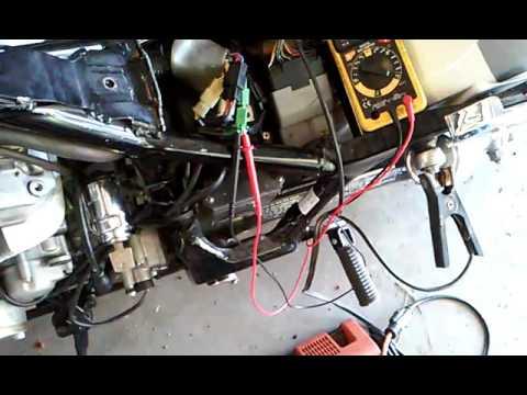 1996 Honda Shadow Wiring Diagram Kickstand Neutral Switch Test Youtube