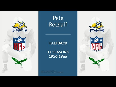 Pete Retzlaff: Football Halfback,  Split End, and Tight End