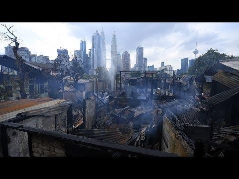 15 squatter houses razed in Kg Baru fire