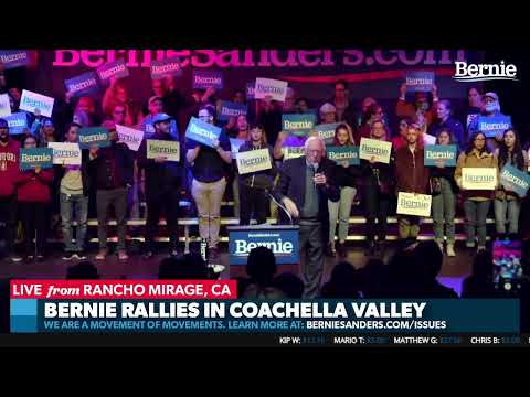 Bernie Rallies in Coachella
