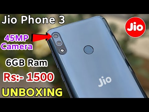 Jio Phone 3 Unboxing | 45MP 📸 Camera | 5G | 6GB RAM | Price ₹1500 - First LOOK, Specifications