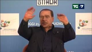 20121024 TGLa7 Berlusconi dichiara di non ricandidarsi a Premier