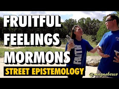 Street Epistemology: Jenny and Anthony | Fruitful Feelings | Mormons