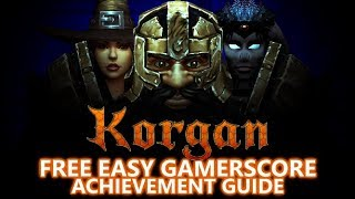 Korgan - FREE EASY Game - Full 1,000 Gamerscore Achievement Guide (Under 2 Hours)