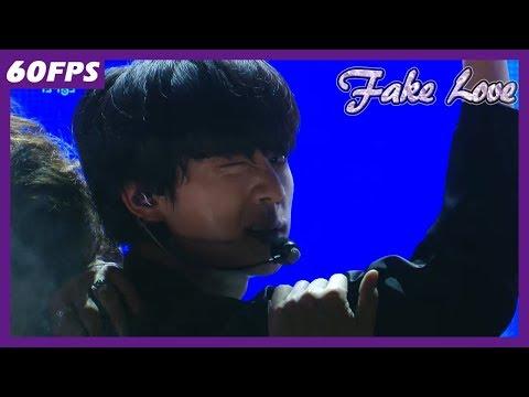 60FPS 1080P | BTS - Fake Love, 방탄소년단 - Fake Love Show Music Core 20180609