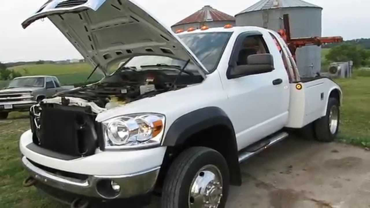 Ram 5500 For Sale >> salvage repairable 2009 dodge ram 5500 wrecker - YouTube