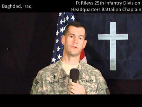WATCH Chaplain (Capt.) Joel Panzer at Camp Liberty...