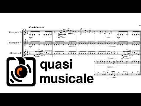 """""""Oye como va"""" (Santana) arr. Adrian Wagner - Brass Quintet (Sheet Music) Arrangement"""