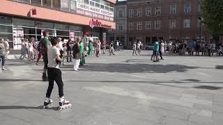 2018 FLASH MOB in LODZ, POLAND ZORBA Line Dance by Ira Weisburd