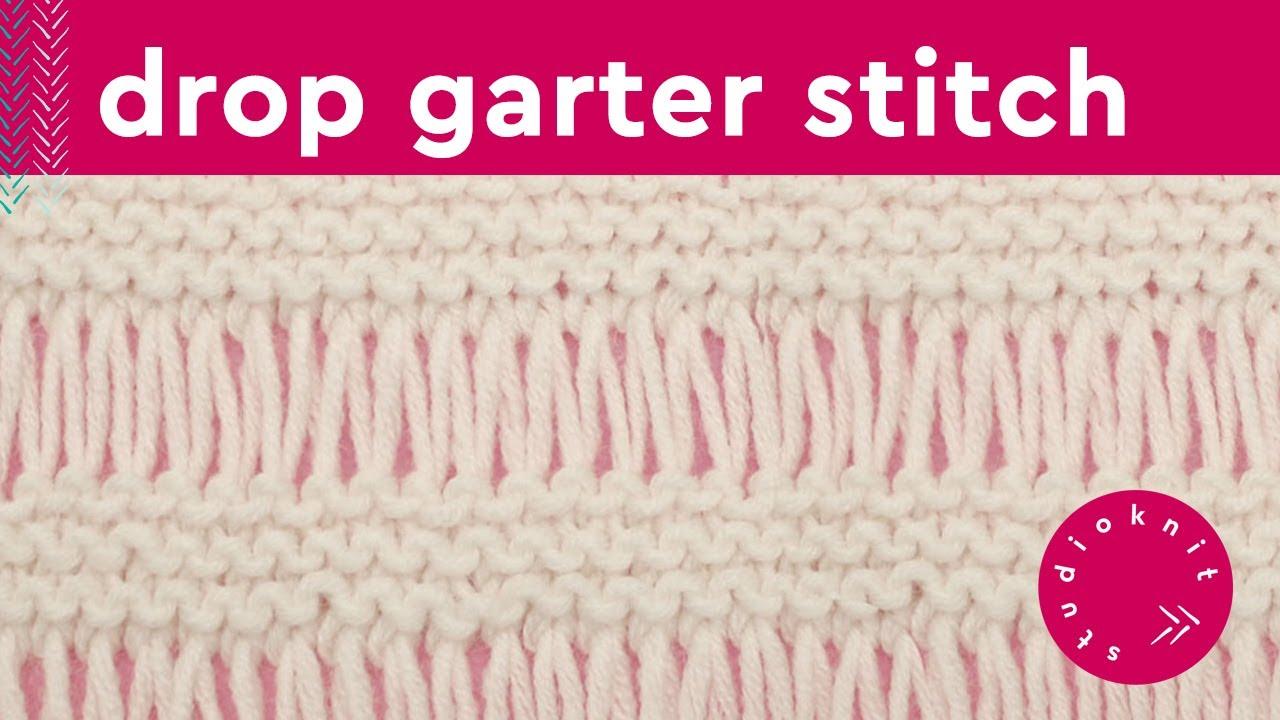 DROP STITCH GARTER Knit Stitch Pattern - YouTube