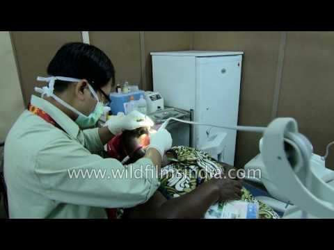 Dental check-up for athletes at a poly clinic in Delhi