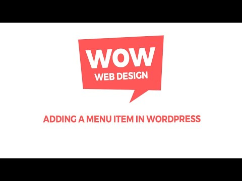 Straat Design Tutorial - Adding a menu item in Wordpress thumbnail