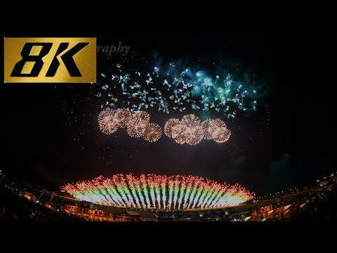 [8K 4320p UHD]8K映像 花火 Amazing Pyromusical in Nagano fireworks Japan 2017   8K Resolution TV