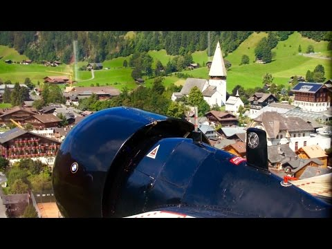 Junkers Ju 52 ✈  Tante JU Spectacular Flight through Swiss Alps from Gstaad