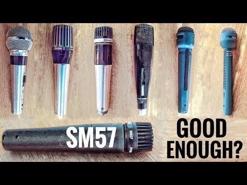 How does my new Shure SM57 compare to the vintage classic dynamic microphones?