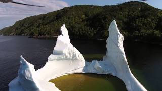 Drone footage of an Iceberg, Snooks Arm NL