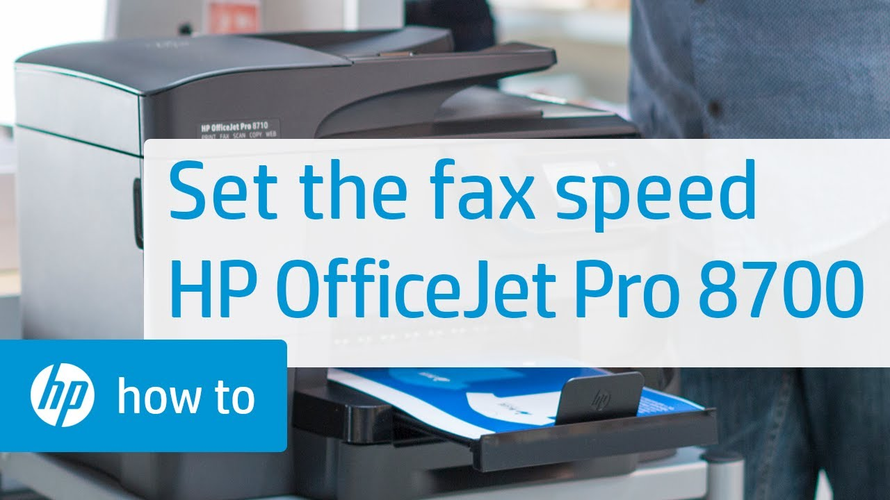 Setting The Fax Speed On Hp Officejet Pro 8700 Series