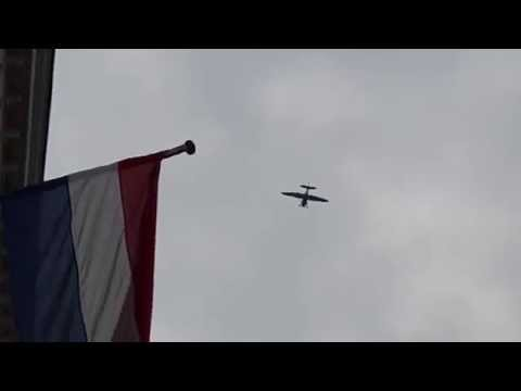 Noorbeek FLY OVER of a STINSON AT 19