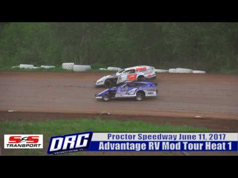 Proctor Speedway 6/11/17 Advantage RV Mod Tour Heat 1 Finish