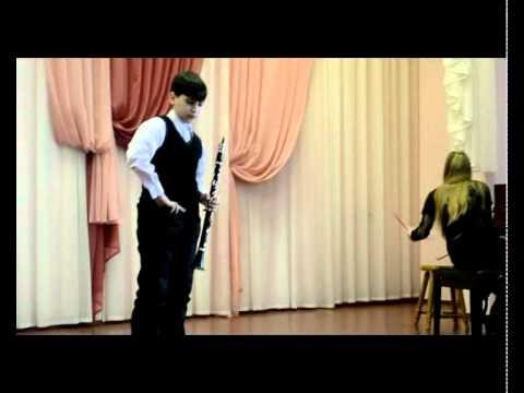DAVID Shinkarenko-юный кларнетист.avi