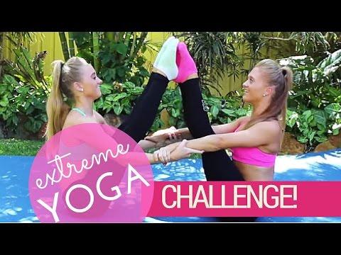 Extreme Yoga Challenge! | Teagan & Sam thumbnail
