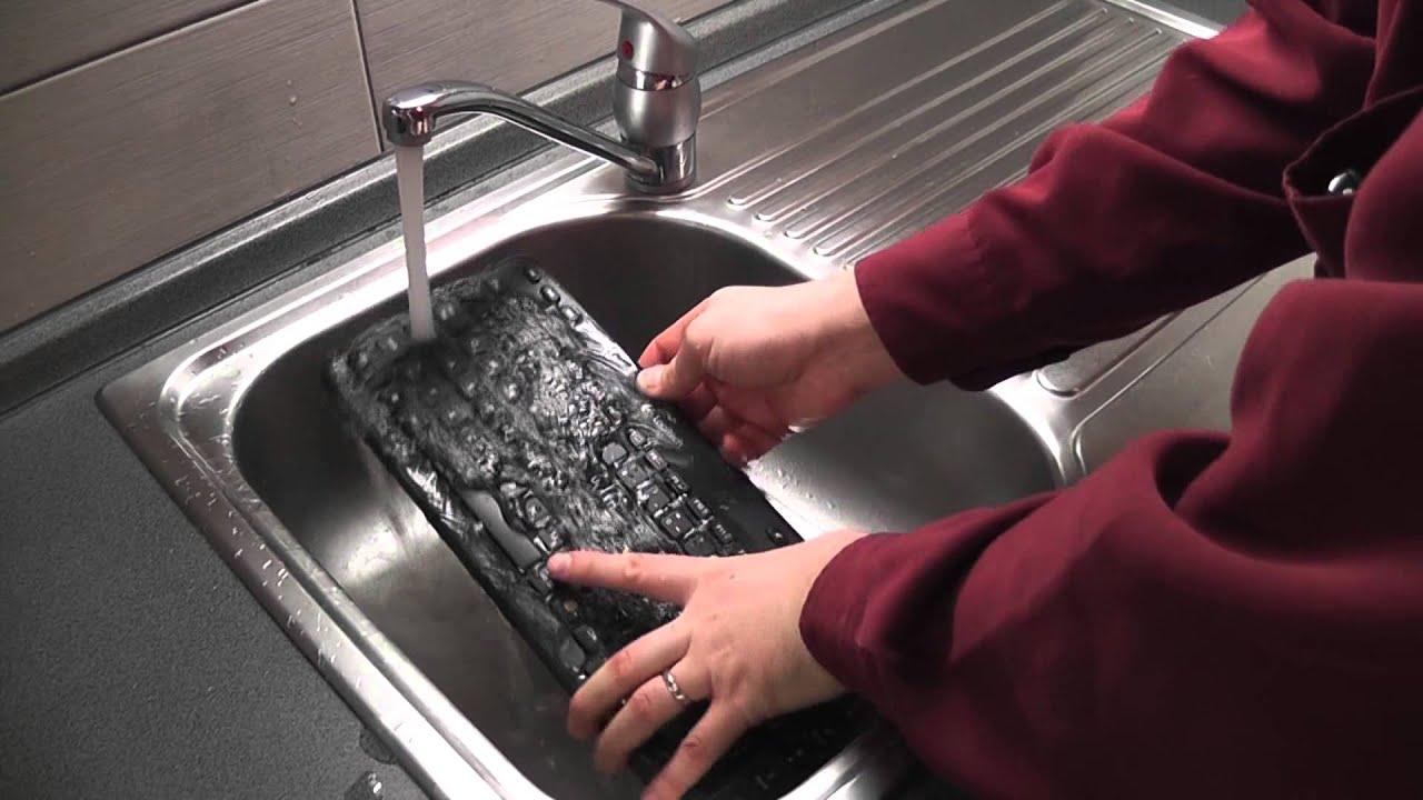 How to Clean a Keyboard Spill - Logitech K360 Wireless Keyboard - YouTube