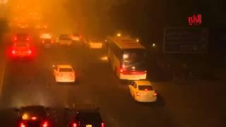 فيديو.. عاصفة رملية بالكويت تتسبب في 25 إصابة وأضرار مادية