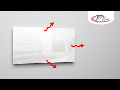Infrarood Paneel Spiegel : Tectake infrarood verwarming youtube