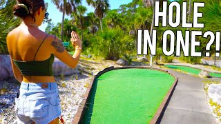 Wave Hello To A Mini Golf Hole In One!