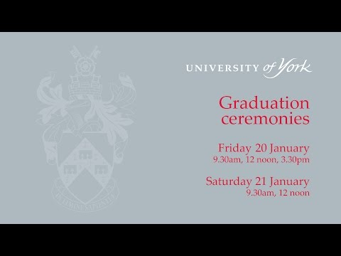 Winter Graduation 2017: Ceremony One, 20 January 2017