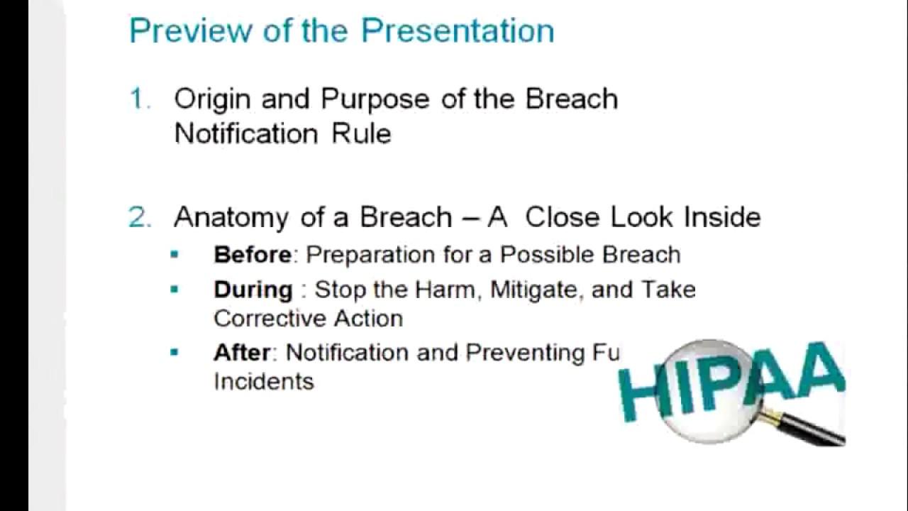 Anatomy of a HIPAA Breach Webinar: Data Privacy - YouTube