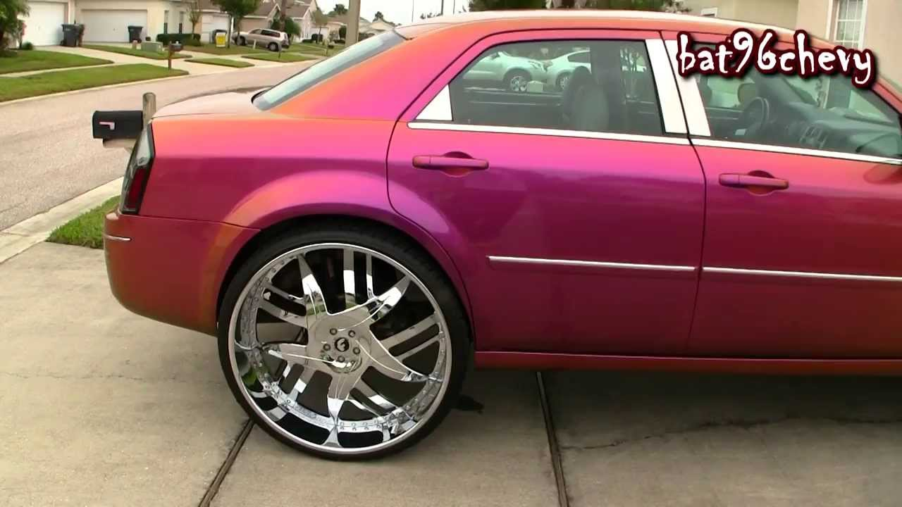 females outrageous purplegold chrysler 300 on 30