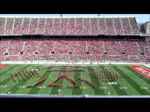 "OSU Athletic Band Performs ""Star Trek""  Halftime Show at Spring Game 4 12 2014"