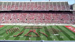 """OSU Athletic Band Performs """"Star Trek""""  Halftime Show at Spring Game 4 12 2014"""