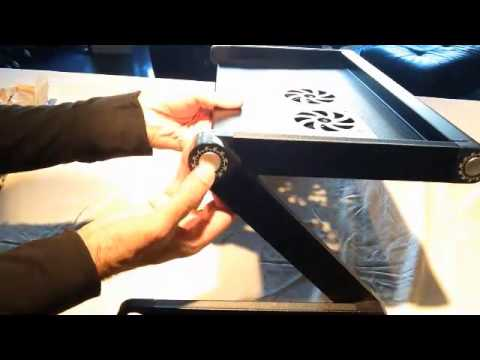 Pwr  PwrAir Adjustable Vented Laptop Table - YouTube