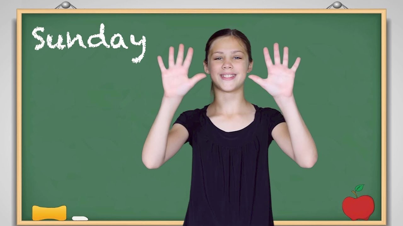 picture relating to Baby Sign Language Australia Free Printable Chart called ASL Times of the 7 days Lesson and Music