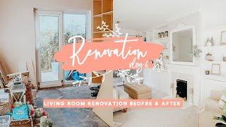 LIVING ROOM RENOVATION BEFORE & AFTER | HOUSE RENOVATION 6 | KATE MURNANE