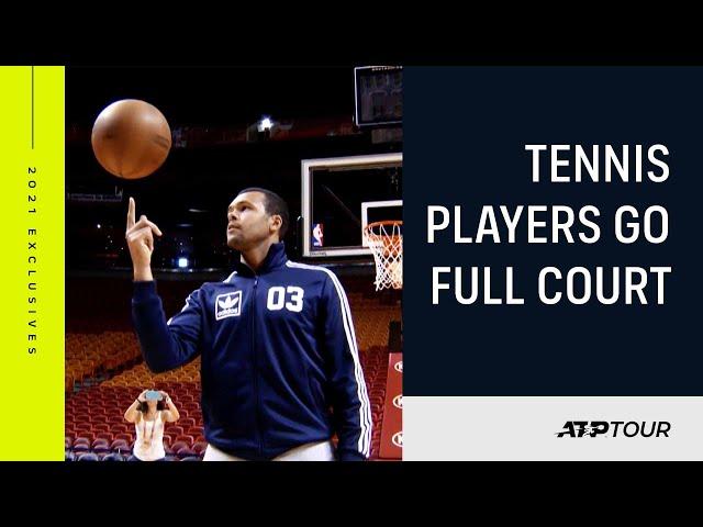 Tennis Stars Hit The Basketball Court