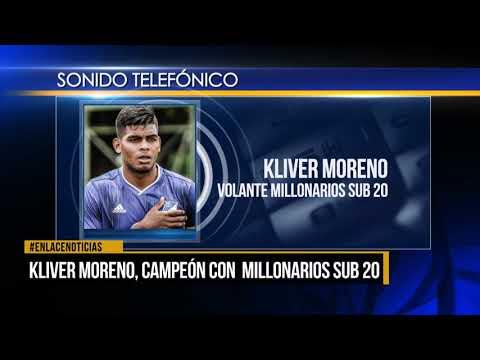 Kliver Moreno, campeón con millonarios sub 20