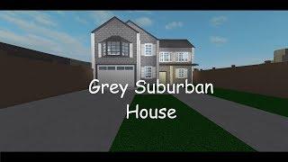ROBLOX: Bloxburg; Grey/Suburban House 56k